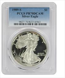 1989 S American  Eagle  DCAM PCGS Proof 70 Deep Cameo