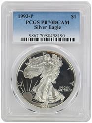 1993 P American  Eagle  DCAM PCGS Proof 70 Deep Cameo
