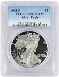 1998 P American  Eagle  DCAM PCGS Proof 69 Deep Cameo
