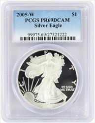 2005 W American  Eagle  DCAM PCGS Proof 69 Deep Cameo