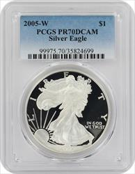 2005 W American  Eagle  DCAM PCGS Proof 70 Deep Cameo