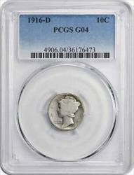 1916 D Mercury  Dime G04 PCGS