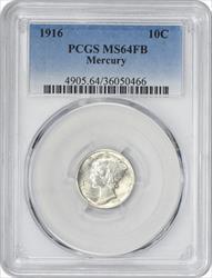 1916 P Mercury  Dime FB PCGS