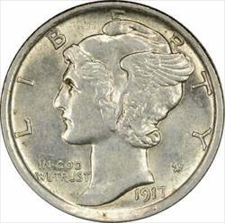 1917 D Mercury  Dime Choice BU Uncertified