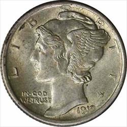 1919 D Mercury  Dime AU Slider Uncertified