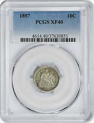 1857 Liberty Seated  Dime EF40 PCGS