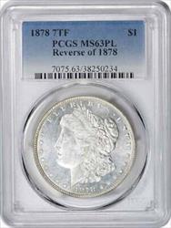 1878 P Morgan   7TF PL PCGS