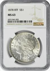 1878 P Morgan   8TF  NGC