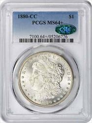 1880 CC Morgan   + PCGS (CAC)