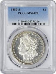 1880 S Morgan   PL PCGS