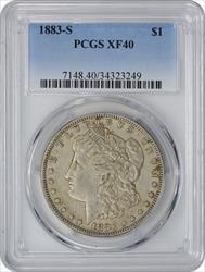 1883 S Morgan   EF40 PCGS