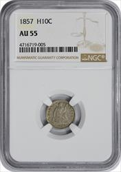 1857 Liberty Seated  Half Dime  NGC