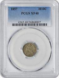 1857 Liberty Seated  Half Dime EF40 PCGS