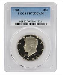 1980 S Kennedy Half DCAM PCGS Proof 70 Deep Cameo