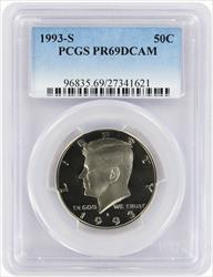 1993 S Clad Kennedy Half DCAM PCGS Proof 69 Deep Cameo