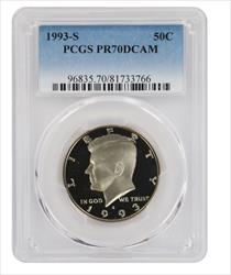 1993 S Clad Kennedy Half DCAM PCGS Proof 70 Deep Cameo