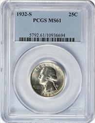 1932 S Washington  Quarter  PCGS