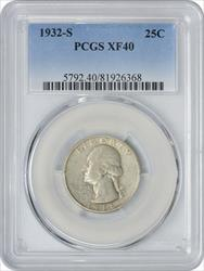 1932 S Washington  Quarter EF40 PCGS