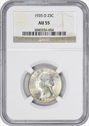 1935 D Washington Quarter  NGC