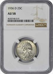 1936 D Washington Quarter  NGC