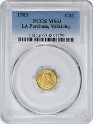 1903 LA Purchase - McKinley $1 Gold, , PCGS