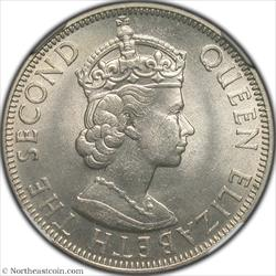 1962 50 Cents British Honduras NGC MS66