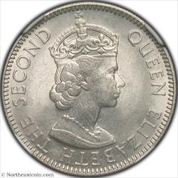 1963 25 Cents British Honduras NGC MS64