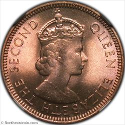 1954 Cent British Honduras NGC MS66RB
