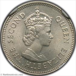 1963 10 Cents British Honduras NGC MS65