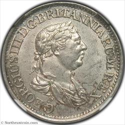 1816 1/2 Guilders Essequibo and Demerary NGC MS62