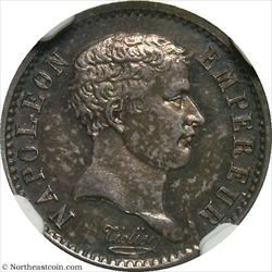 1807-A 1/4 Franc African Head France NGC MS64