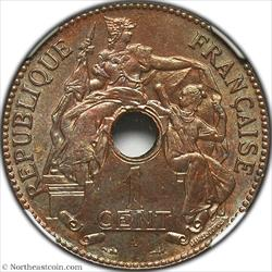 1901-A Cent French Indo-China NGC MS63BN