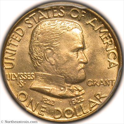 1922 Grant No Star Dollar Gold Commem PCGS MS65