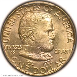 1922 Grant No Star Dollar Gold Commem PCGS MS66