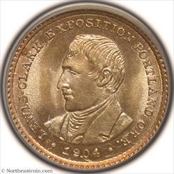 1904 Lewis & Clark Dollar Gold Commem PCGS MS64