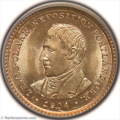 1904 Lewis & Clark Dollar Gold Commem PCGS MS64