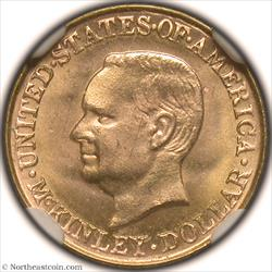 1917 McKinley Dollar Gold Commem NGC MS65