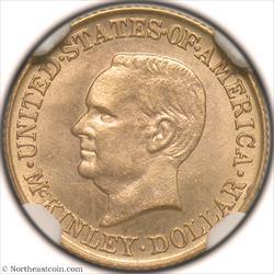 1916 McKinley Dollar Gold Commem NGC MS63