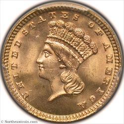 1883 Gold Dollar PCGS MS66