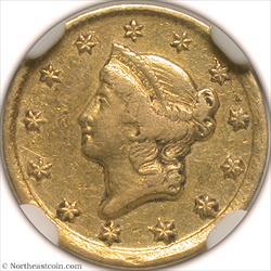 1849-D Gold Dollar NGC AU50