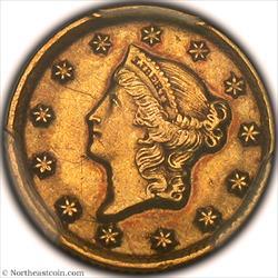 1849-D Gold Dollar PCGS AU53