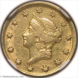 1849-D Gold Dollar NGC AU55