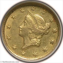 1851-C Gold Dollar NGC AU58