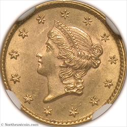 1853 Gold Dollar NGC MS64