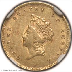 1854 Type 2 Gold Dollar NGC AU55