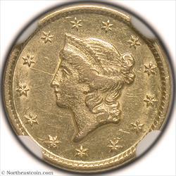 1849-O Gold Dollar NGC AU55