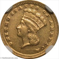 1859-C Gold Dollar NGC AU58