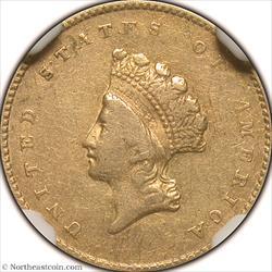 1855 Gold Dollar NGC XF40