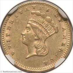 1861 Gold Dollar NGC AU58
