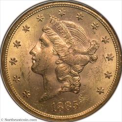 1885-S Gold Double Eagle NGC MS63